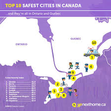 Hamilton Canada Map What Are The Safest Cities In Canada