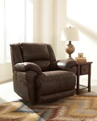 Swivel Recliner Chairs For Living Room Furniture Brown Leather Rocking Recliner Decor With Pattern Rugs