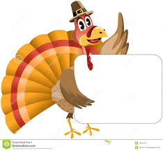 free funny thanksgiving pictures thanksgiving turkey holding banner royalty free stock photography