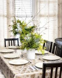 Dining Room Centerpieces dining table centerpieces flowers white cushion wood lands cabinet