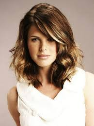 medium layered wavy haircut curly hairstyles for an oval face hair