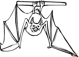 bats images clip art bat hanging upside down coloring page free printable coloring pages
