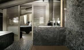 Natural Stone Bathroom Ideas Natural Stone Bathroom Designs Towel Hanger On Top Walls Stripes