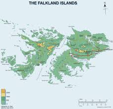 Physical Map Of South America by Falkland Islands Map South America