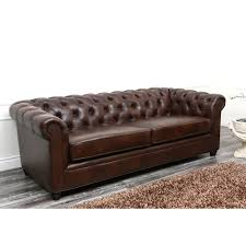 Chesterfield Sofa Leather by Abbyson Tuscan Chesterfield Brown Leather Sofa By Abbyson
