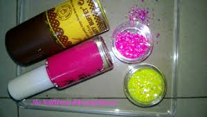 easy at home nail art 21 u2013 the yellow and pink glitter the nail