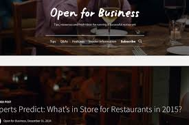 Website Design Ideas For Business Opentable Launches Blog Aimed At Restaurant Owners Eater