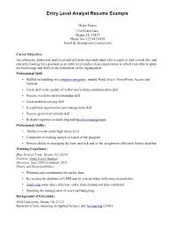 Entry Level Resume Examples by Financial Analyst Resume Examples Entry Level 32 Best Resume