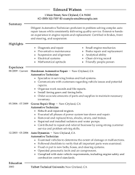 Best Resume Job by Best Automotive Technician Resume Example Livecareer