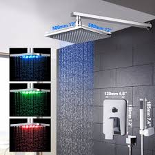 popular bath shower panels buy cheap bath shower panels lots from 10 years warrantyled changing rainfall waterfall bath shower panel wall mounted message shower set with hand shower