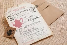 Sensational Theme by Tea Party Bridal Shower Invitations Kawaiitheo Com