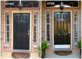 painted front doors inside inside how to paint front door diy how