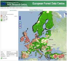 Show Map Of Europe by Reporting On European Forest Fragmentation Standardized Indices