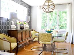 MidcenturyModern Family Dining Room Evaru Design HGTV - Family dining room