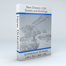 New Orleans Downtown Map by New Orleans Downtown Streets And Buildings 3d Model Obj 3ds Fbx