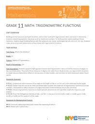 grade 11 math trigonometric functions