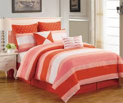 Red King Comforter Sets 8 Piece Preston Coral And Pink Comforter Set