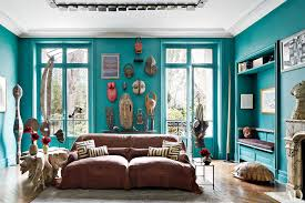 BlueGreen Painted Room Inspiration Photos Architectural Digest - Green paint colors for living room