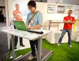 multitable modtable standing desk treadmill system apartment