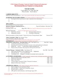 Sample Resume With No Job Experience  example of resume with no     ASB Th  ringen