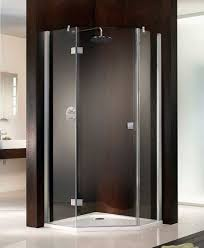 hsk atelier single pivot door pentagon shower enclosure 900 x 900mm