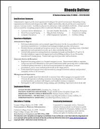Good Resume Examples by Administrative Resume Examples Berathen Com