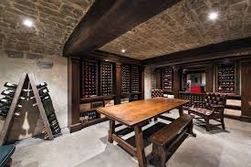 built in wine rack wine cellar contemporary with wood dining table