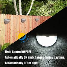 Solar Fence Lighting by Discount Warm Solar Fence Lights 2017 Warm White Solar Fence