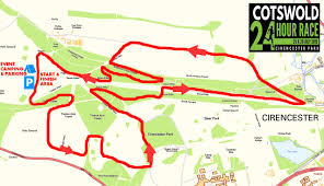 Time Change Map Cotswold 24 Hour Race Route Map