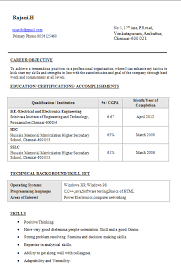 B Tech IT Resume Sample for Fresher