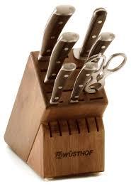 Kitchen Knives Wusthof 7 Piece Knife Block Set Wusthof Ikon Blackwood On Sale Free