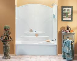 bathroom large modern corner bathtub with shower sets which