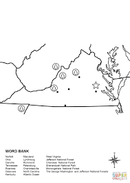 West Tennessee Map by Virginia Map Worksheet Coloring Page Free Printable Coloring Pages