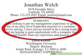 Qualifications Resume Example by Download Writing A Resume Summary Haadyaooverbayresort Com