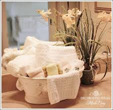 Redecorating Bathroom Ideas by Bathroom Decorating Ideas Use A Pretty Floral Container To Hold