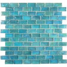 artistry in mosaics uniform brick aqua glass uniform brick tile