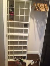 diy shelving with ikea brackets u2013 a shoe coat closet makeover