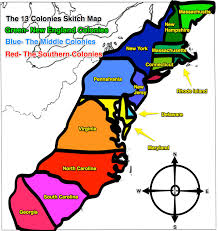 13 colonies map original 13 colonies blank map social studies