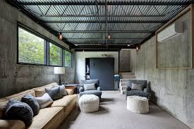 Black Ceiling Basement by Corrugated Metal Ceiling Basement Industrial With Exposed