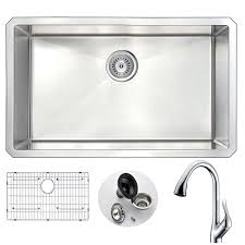 Kitchen Sink With Faucet Set Vigo All In One 30 In 0 Hole Matte Stone Farmhouse Kitchen Sink