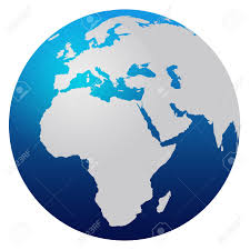 Map Of Europe And Africa by World Map Blue Globe Europe And Africa Stock Photo Picture And
