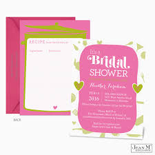 beautiful bridal shower invitations with recipe cards 52 in weding
