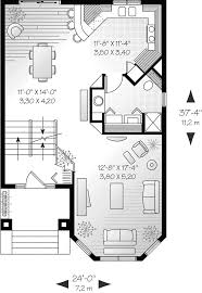 comstock narrow lot townhouse plan 032d 0619 house plans and more