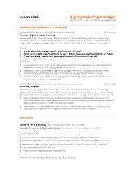 Combination Resume Format 10 Marketing Resume Samples Hiring Managers Will Notice