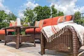 Wicker Resin Patio Furniture - sawyer 6pc resin wicker patio furniture conversation set orange