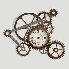 gear wall art with clock clocks walls and steampunk house