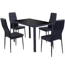 Colonial Dining Room Chairs Amazon Com Giantex 5 Piece Kitchen Dining Set Glass Metal Table