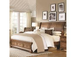 highland court walnut creek queen low profile sleigh storage bed