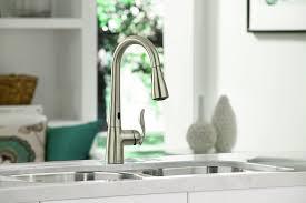 moen 7594esrs arbor high goose neck kitchen faucet with
