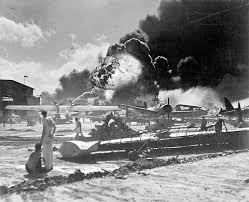standing amid wrecked planes at the Ford Island seaplane base  watching as the U S S  Shaw exploded during the attack on Pearl Harbor on Dec           The Learning Network   The New York Times